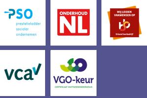 Certificaten Van Aarle Vastgoedonderhoud Tilburg