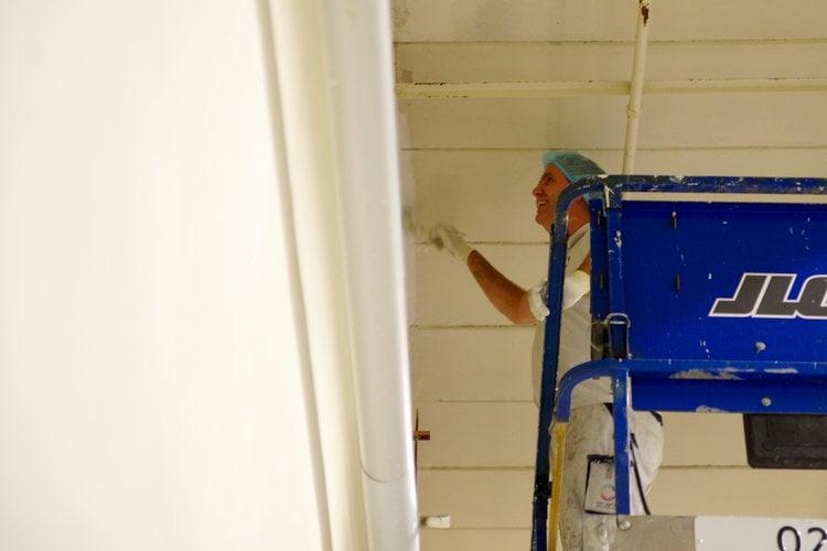 Plafond texen met roller